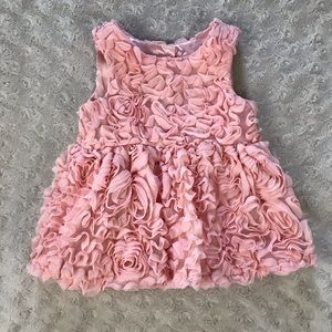 Cat & Jack Rosette Swirl Baby Girl Dress Pink